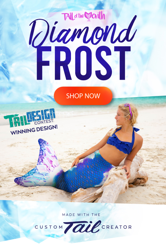 Shop the January Tail of the Month.  Diamond Frost, our Tail Design Contest winner, is now shipping!